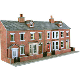 Metcalfe Metcalfe PO274 Red brick terraced house fronts (H0/OO gauge)