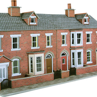 Metcalfe Metcalfe PO274 Red brick terraced house fronts (H0/OO gauge)
