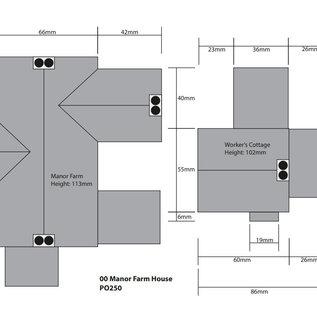 Metcalfe Metcalfe PO250 Historische boerderij met personeelswoning (Schaal H0/00, Karton)