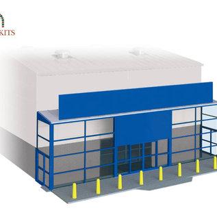Wills Wills Modern SSM310 Supermarkt voorgevel voor industriehal (schaal H0/00)