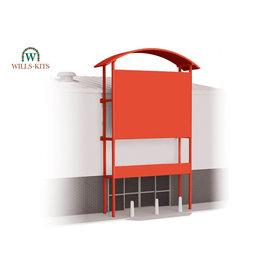 Wills Wills Modern SSM311 Retail unit frontage for industrial/Retail Unit (Gauge H0/00)