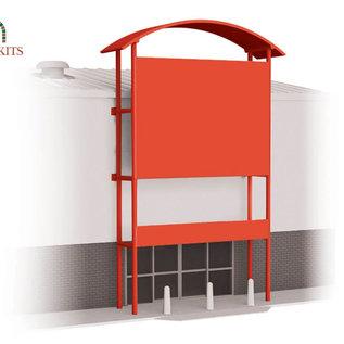 Wills Wills Modern SSM311 Retail unit voorgevel voor industriehal (schaal H0/00)