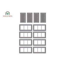 Wills Wills Modern SSM314 Windows and doors for industrial/Retail Unit (Gauge H0/00)