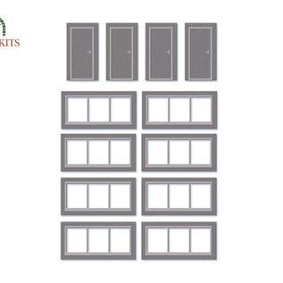 Wills Wills Modern SSM314 Fenster und Türen für Industrie Halle (Spur H0/00)