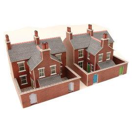 Metcalfe Metcalfe PN103 Rijtjeshuizen in rode baksteen (Schaal N)