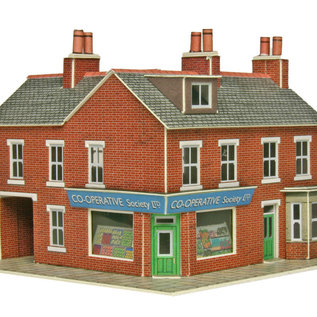 Metcalfe Metcalfe PN116 Corner Shop & Pub in Red Brick (N gauge)
