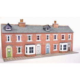 Metcalfe Metcalfe PN174 Red brick terraced house fronts (N-Gauge)