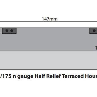 Metcalfe Metcalfe PN174 Voorzijde rijtjeshuizen rode baksteen (Schaal N)