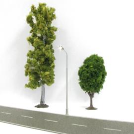 Digikeijs Digikeijs DR60211 Messing Einzelstraßenlaterne, LED warmweiß 4 Stück (Spur H0)