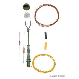 Viessmann  Viessmann 6728 Bouwkit standaard gaslantaarn groen, LED warm wit (schaal H0)