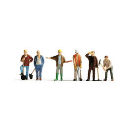NOCH Noch 15110 Bauarbeiter (Spur H0), 6 Figuren