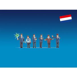 NOCH Noch 17543 Bahnbeamte Niederlande, beleuchtet (Spur H0), 6 Figuren