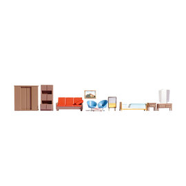 NOCH Noch 14832 Furniture (Gauge H0), 11 pieces