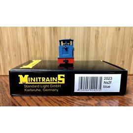 Minitrains Minitrains 2023 Ns2f smalspoor diesellok blauw