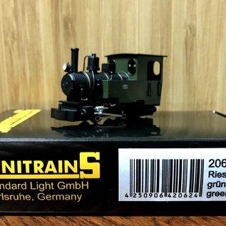 "Minitrains Minitrains 2062 Henschel ""Riesa"" groen smalspoor loc"