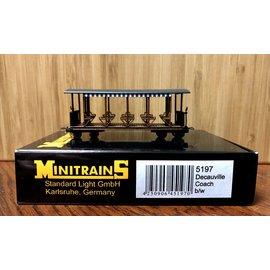 Minitrains Minitrains 5197 Decauville Deco blauw smalspoor personenwagon