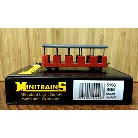 Minitrains Minitrains 5196 Schmalspur Personenwagon SGB rot