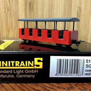 Minitrains Minitrains 5196 smalspoor personenwagon SGB rood
