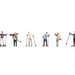 NOCH Noch 15827 Skifahrer (Spur H0), 6 Figuren