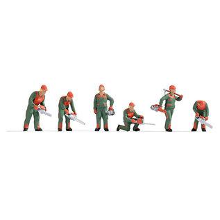 NOCH Noch 15061 Waldarbeiter (Spur H0), 6 Figuren