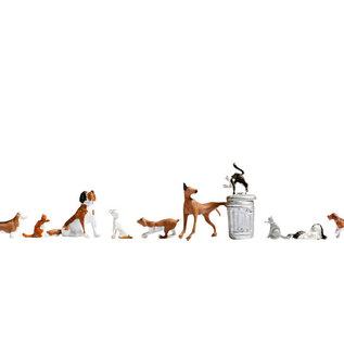 NOCH Noch 15715 Hunde und Katzen (Spur H0), 10 Figuren