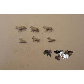 P & D Marsh Models P & D Marsh PW101 Hunde (Spur H0/OO)