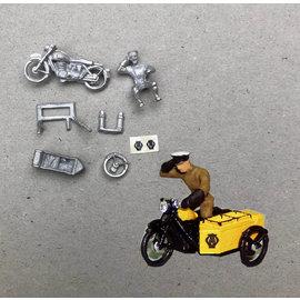 P & D Marsh Models P & D Marsh PW34 AA Motorfiets patrouille (Schaal H0/00)