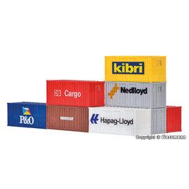 Kibri Kibri 10924 20-Fuß-Container (Spur H0) 6 Stück