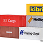 Kibri Kibri 10924 20 ft containers (Schaal H0) 6 stuks