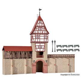 Kibri Kibri 38914 Stadsmuur met vakwerktoren in Weil (Schaal H0)