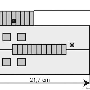 Kibri Kibri 39436  Lokschuppen Eschbronn, einständig (Spur H0)
