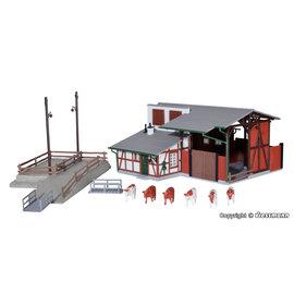 Kibri Kibri 39096 Stall mit Viehverladung (Spur H0)