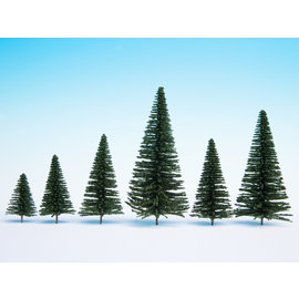 NOCH Noch 26831 Fir Trees with Planting Pin, 50 pieces, 5-14cm high
