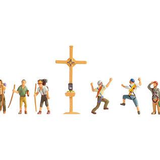 NOCH Noch 36874 Bergwandelaars met kruis (Schaal N)