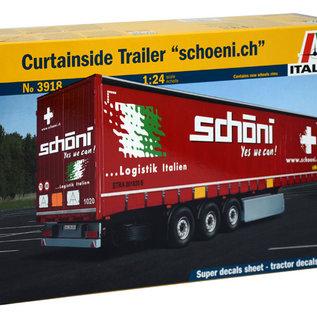 """Italeri Italeri 3918 Schuifzeiltrailer """"Schoeni.ch"""" (Schaal 1:24)"""