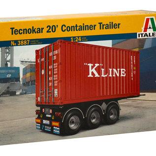 Italeri Italeri 3887 Technokar 20' Container trailer (Schaal 1:24)