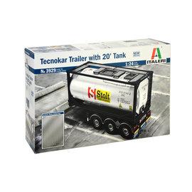 Italeri Italeri 3929 Technokar Anhänger mit 20 'Tank (Maßstab 1: 24)