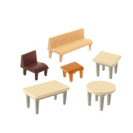 Faller Faller 272440 7 Tische, 24 Stühle, 12 Bänke (Spur N)