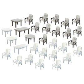 Faller Faller 272441 24 Gartenstühle und 6 Tische (Spur N)