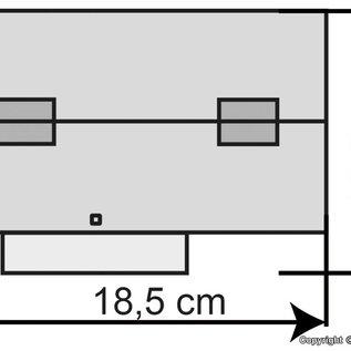 Kibri Kibri 37438 Dubbelspoors locloods (Schaal N)