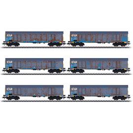 """Märklin Märklin 47189 NS """"Wood Chips Transport"""" High Side Gondola Set AC era V (gauge H0)"""