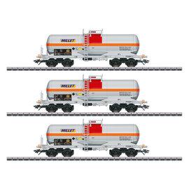 """Märklin Märklin 46471 3-delige chemicaliënketelwagen """"Millet"""" AC tijdperk VI (schaal H0)"""