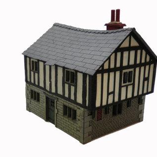 Ancorton Models Ancorton OOTC1 Tudor Cottage (schaal H0/00, lasercut)