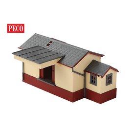 Peco Peco NB-6 Goederenloods, baksteen/hout (schaal N)