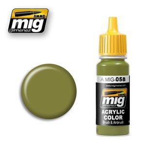 MIG Jimenez MIG 0058 Light Green Khaki (17 ML)
