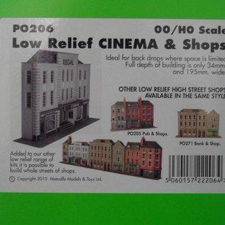 Metcalfe Metcalfe PO206 Vorderseite Kino (Relief/Hintergrundmodell) (Baugröße H0/OO)