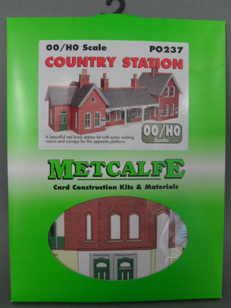 Metcalfe PO237 Country Station OO Gauge Cardboard Kit