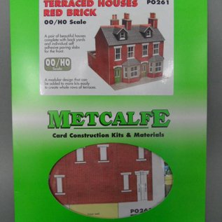 Metcalfe Metcalfe PO261 Red brick terraced houses (H0/OO gauge)