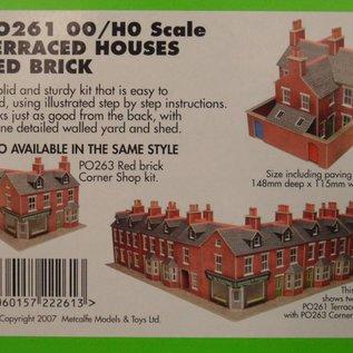 Metcalfe Metcalfe PO261 Rijtjeshuizen in rode baksteen (Schaal H0/00, Karton)
