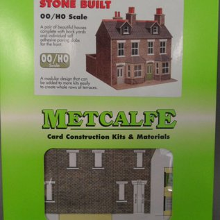 Metcalfe Metcalfe PO262 Reihenhäuser in grauem Stein (Baugröße H0/OO)